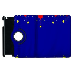 Critical Points Line Circle Red Blue Yellow Apple Ipad 2 Flip 360 Case by Mariart