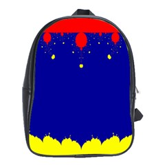 Critical Points Line Circle Red Blue Yellow School Bags (xl)  by Mariart
