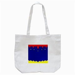 Critical Points Line Circle Red Blue Yellow Tote Bag (white) by Mariart