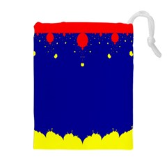 Critical Points Line Circle Red Blue Yellow Drawstring Pouches (extra Large) by Mariart