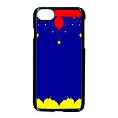 Critical Points Line Circle Red Blue Yellow Apple Iphone 7 Seamless Case (black) by Mariart