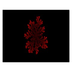 Dendron Diffusion Aggregation Flower Floral Leaf Red Black Rectangular Jigsaw Puzzl by Mariart