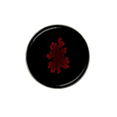 Dendron Diffusion Aggregation Flower Floral Leaf Red Black Hat Clip Ball Marker by Mariart