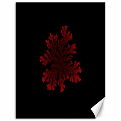 Dendron Diffusion Aggregation Flower Floral Leaf Red Black Canvas 12  X 16   by Mariart