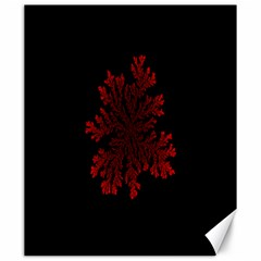 Dendron Diffusion Aggregation Flower Floral Leaf Red Black Canvas 20  X 24   by Mariart