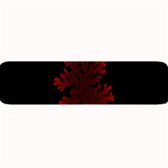Dendron Diffusion Aggregation Flower Floral Leaf Red Black Large Bar Mats by Mariart