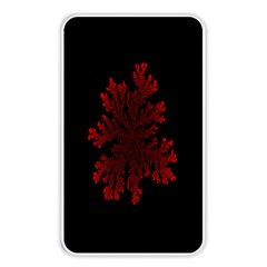 Dendron Diffusion Aggregation Flower Floral Leaf Red Black Memory Card Reader by Mariart