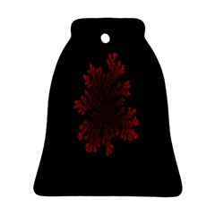 Dendron Diffusion Aggregation Flower Floral Leaf Red Black Bell Ornament (two Sides) by Mariart