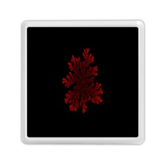 Dendron Diffusion Aggregation Flower Floral Leaf Red Black Memory Card Reader (square)  by Mariart