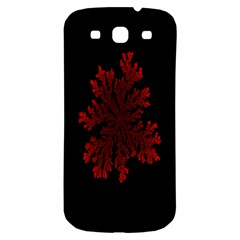 Dendron Diffusion Aggregation Flower Floral Leaf Red Black Samsung Galaxy S3 S Iii Classic Hardshell Back Case by Mariart