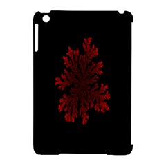 Dendron Diffusion Aggregation Flower Floral Leaf Red Black Apple Ipad Mini Hardshell Case (compatible With Smart Cover) by Mariart