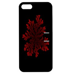Dendron Diffusion Aggregation Flower Floral Leaf Red Black Apple Iphone 5 Hardshell Case With Stand by Mariart