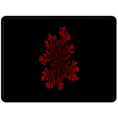 Dendron Diffusion Aggregation Flower Floral Leaf Red Black Double Sided Fleece Blanket (large)  by Mariart