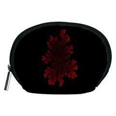Dendron Diffusion Aggregation Flower Floral Leaf Red Black Accessory Pouches (medium)  by Mariart