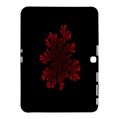 Dendron Diffusion Aggregation Flower Floral Leaf Red Black Samsung Galaxy Tab 4 (10 1 ) Hardshell Case  by Mariart