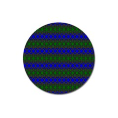 Diamond Alt Blue Green Woven Fabric Magnet 3  (round) by Mariart