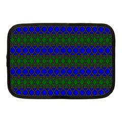 Diamond Alt Blue Green Woven Fabric Netbook Case (medium)  by Mariart