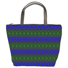 Diamond Alt Blue Green Woven Fabric Bucket Bags by Mariart