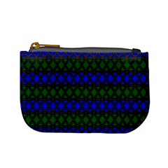 Diamond Alt Blue Green Woven Fabric Mini Coin Purses by Mariart