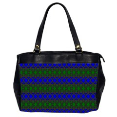 Diamond Alt Blue Green Woven Fabric Office Handbags (2 Sides)  by Mariart