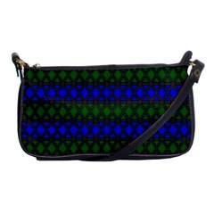 Diamond Alt Blue Green Woven Fabric Shoulder Clutch Bags by Mariart