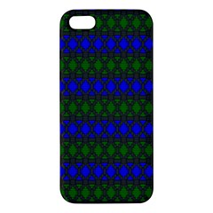 Diamond Alt Blue Green Woven Fabric Apple Iphone 5 Premium Hardshell Case by Mariart