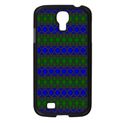 Diamond Alt Blue Green Woven Fabric Samsung Galaxy S4 I9500/ I9505 Case (black) by Mariart