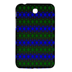 Diamond Alt Blue Green Woven Fabric Samsung Galaxy Tab 3 (7 ) P3200 Hardshell Case  by Mariart