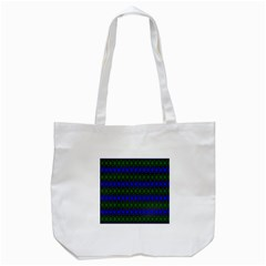 Diamond Alt Blue Green Woven Fabric Tote Bag (white) by Mariart