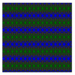 Diamond Alt Blue Green Woven Fabric Large Satin Scarf (square) by Mariart