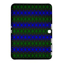 Diamond Alt Blue Green Woven Fabric Samsung Galaxy Tab 4 (10 1 ) Hardshell Case  by Mariart