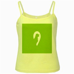 Dog Green White Animals Yellow Spaghetti Tank by Mariart