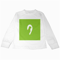 Dog Green White Animals Kids Long Sleeve T Shirts by Mariart