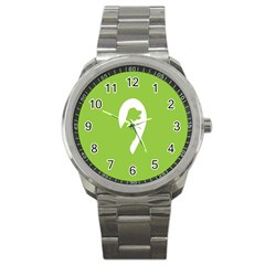 Dog Green White Animals Sport Metal Watch by Mariart