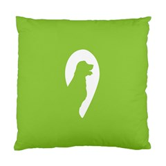 Dog Green White Animals Standard Cushion Case (two Sides) by Mariart