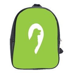 Dog Green White Animals School Bags(large)