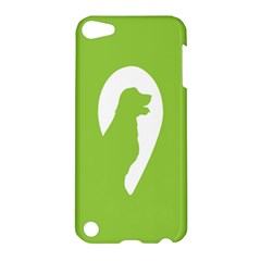 Dog Green White Animals Apple Ipod Touch 5 Hardshell Case by Mariart