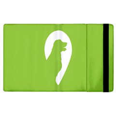 Dog Green White Animals Apple Ipad 2 Flip Case by Mariart