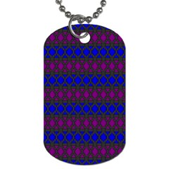 Diamond Alt Blue Purple Woven Fabric Dog Tag (one Side) by Mariart