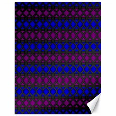 Diamond Alt Blue Purple Woven Fabric Canvas 18  X 24   by Mariart