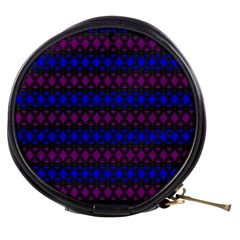 Diamond Alt Blue Purple Woven Fabric Mini Makeup Bags by Mariart