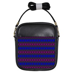 Diamond Alt Blue Purple Woven Fabric Girls Sling Bags by Mariart