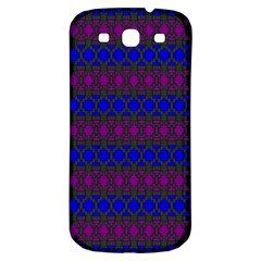 Diamond Alt Blue Purple Woven Fabric Samsung Galaxy S3 S Iii Classic Hardshell Back Case by Mariart