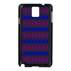 Diamond Alt Blue Purple Woven Fabric Samsung Galaxy Note 3 N9005 Case (black) by Mariart