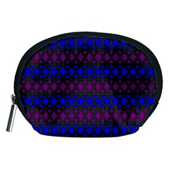 Diamond Alt Blue Purple Woven Fabric Accessory Pouches (medium)  by Mariart