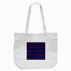 Diamond Alt Blue Purple Woven Fabric Tote Bag (white) by Mariart