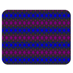 Diamond Alt Blue Purple Woven Fabric Double Sided Flano Blanket (medium)  by Mariart