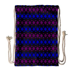 Diamond Alt Blue Purple Woven Fabric Drawstring Bag (large) by Mariart