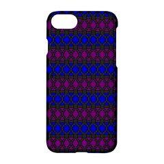 Diamond Alt Blue Purple Woven Fabric Apple Iphone 7 Hardshell Case by Mariart
