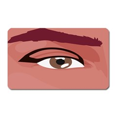 Eye Difficulty Red Magnet (rectangular)